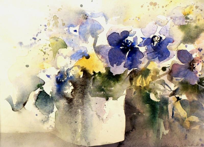 Waltraud Wehinger Aquarell Blumen